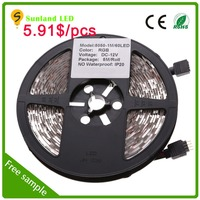 CE ROHS UL approved manufacture price led lights IP20 Smd 5050 60leds/m smd led strip 7020
