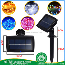 10M 100LED Warm White Waterproof Solar Panel Powered Led String Fairy Lights For Christmas Decoration