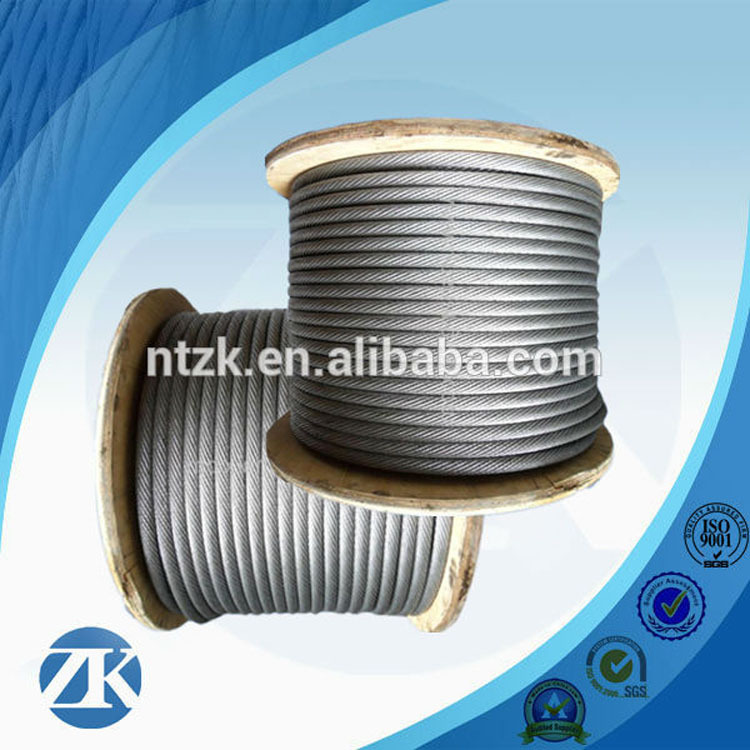 Galvanized STEEL WIRE ROPE 6X19+FC 10MM