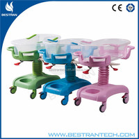 China BT-AB101 Cheap hospital ABS plastic baby bassinet price, beds for the elderly