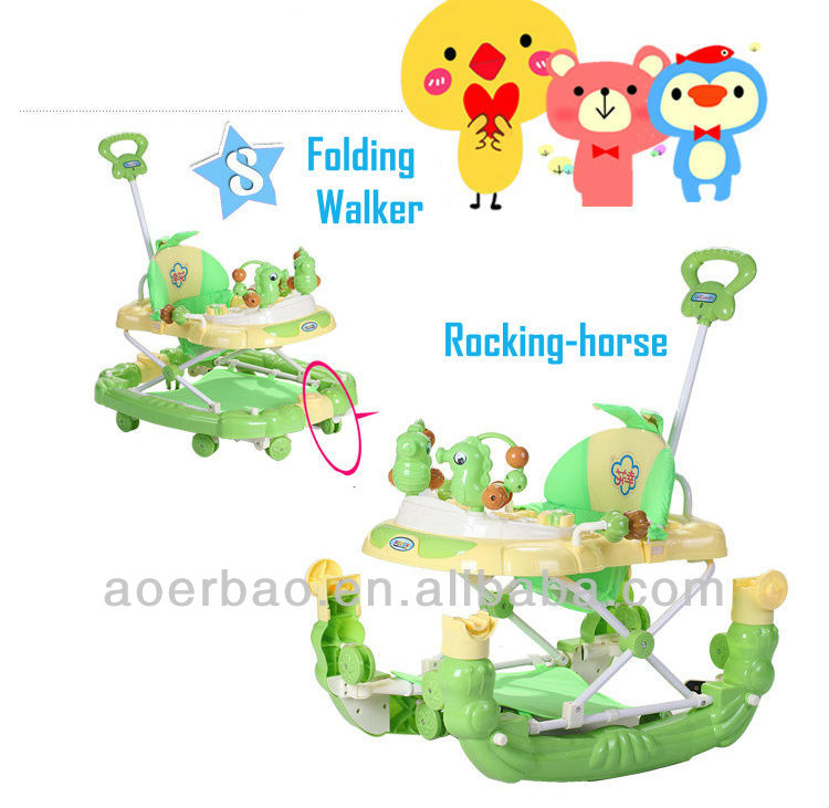 5-in-1 baby walker with musical keyboard