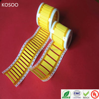 Yellow and white Heat Shrinkable cable marker sleeves for wholesale