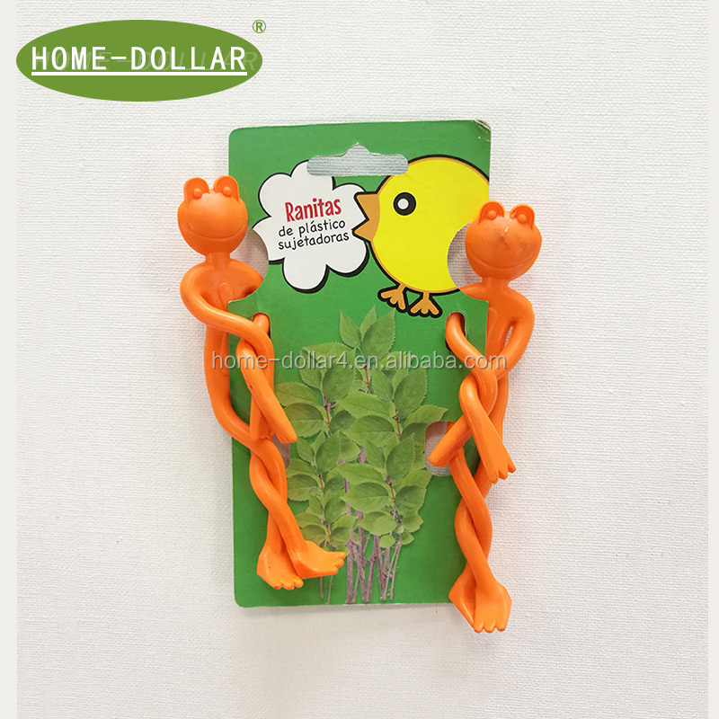 garden ties  in animal shape, frog plant ties with reusable  material, new desgin gardening twist ties