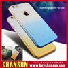 cell phone dual changing color tpu case with dust cap for iphone 6