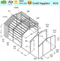 prefabricated construction design steel structure warehouse shed