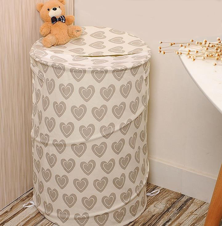 Collapsible custom Laundry Basket With Cover