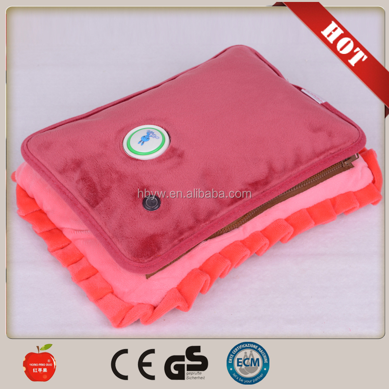 european heater gifts electric hot water bag/plush handwarmer with Euro plug