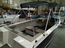 High quality 17ft all welded aluminum runabout motor boat