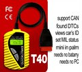T40 code reader scanner for OBD OBD2 EOBD JOBD T40