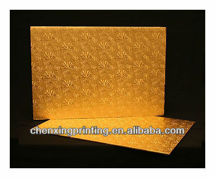 Full Sheet Cake Board, Gold Foil Covered Double Wall Corrugated