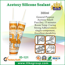 window glass acetic silicone sealant 300ml (Kingjoin ID-121)