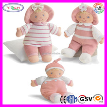 A718 Baby Doll Striped Light Rag Doll Plush Stuffed Baby Candy Doll Models