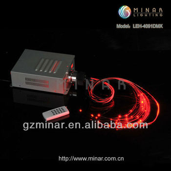 40W LED fiber optic light engine, RGBW, DMX512 control, remote optional (LEH-4091DMX)