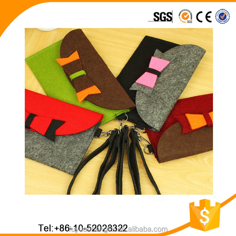 Factory-outlet cheap hot sale simple colorful ladies felt purses and felt wallets