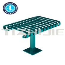 New Fashion Style lovely antirust durable kid Metal outdoor picnic table for Municipal Parks