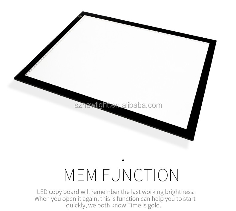Ultra-thin LED tracing drawing board LED light pad led lighted drawing borad