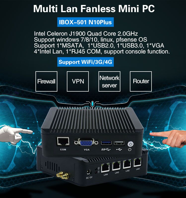 Update server computing J1900 quad core 3G SIM card USB3.0 pfsense system