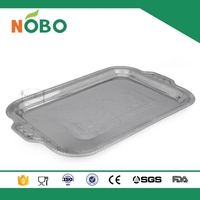 Caved flower design stainless steel dish tray with best price