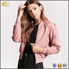 Ecoach high quality fashion elegant Buckle pink women Faux Leather Jacket