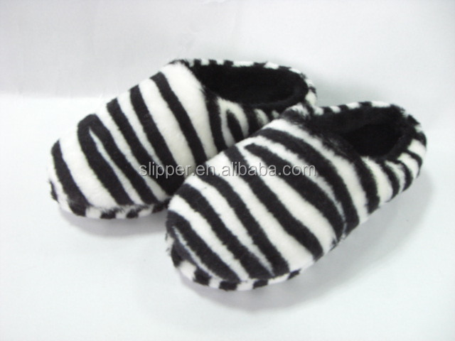 home slipper fashionable plush animal print indoor slippers