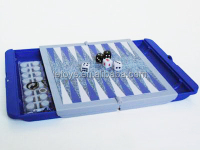Floding backgammon with Chess Pieces Outdoor backgammon game