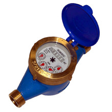 Multi-jet, vane wheel, dry-dial water meter