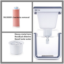 Gravity water filter dispenser EPA 99.9999% bacteria removal