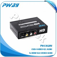 AV+S-VIDEO TO HDMI+VGA+Stereo converter