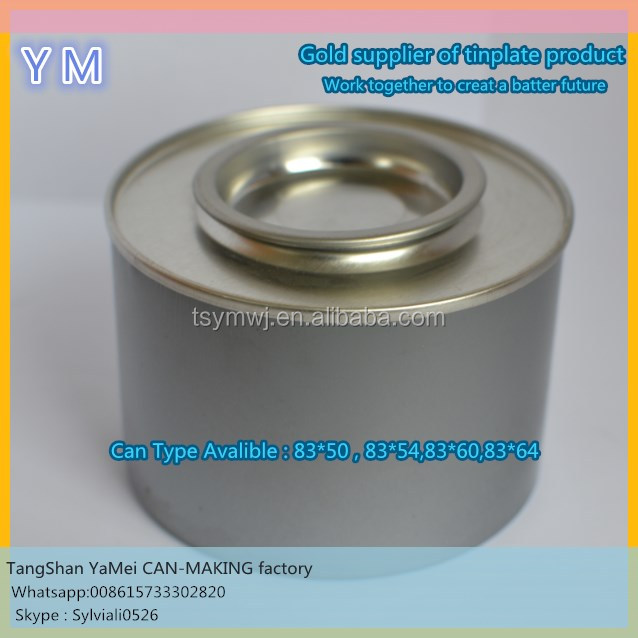 83*60 Gel fuel tinplate empty can from China manufacture for hot sale now