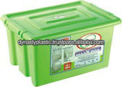PLASTIC STORAGE CONTAINER WITH WHEEL & LOKING LID