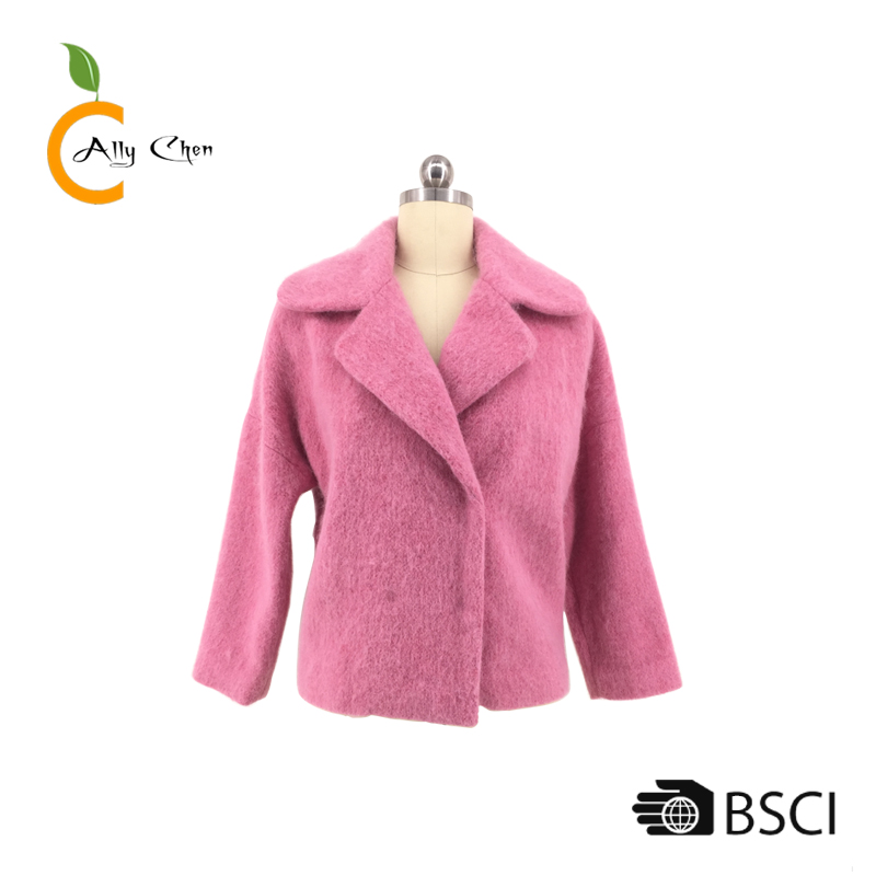 High Quality Handwork Cashmere New girls lady leather jacket