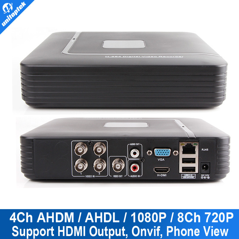 HD Mini 4Ch Full 720P(AHDM) / 960H(AHDL) DVR Realtime Recording 1080P Hybrid DVR NVR Onvif Video CCTV 4 Channel Network Recorder