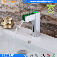 Beelee Automatic Sink Waterfall Water Pressure LED Color Sensor Faucet Without Battery