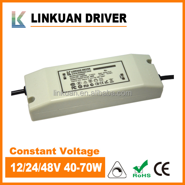 70W dimmable led power supply constant voltage 12V 6A LKAD60D with CE approval for LED Neon flex lights