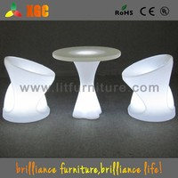 round top plastic table glowing LED table for restaurant and bar GF319