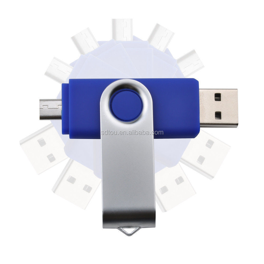 promotional gift rotated 1tb OTG USB Flash Drive for android&PC