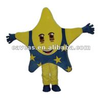 yellow large star mascot costume