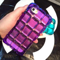 Ice Cube TPU phone case for i5c,Ice Block Checkered Phone Case For iPhone 5 5S 5G/6 6S/6 6S Plus,Back Cover for apple phone