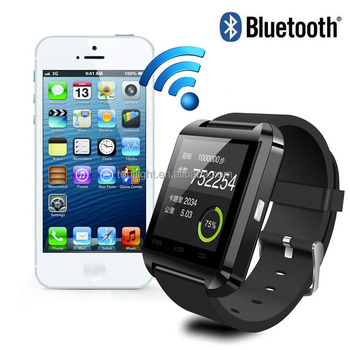 New Bluetooth U8 Stainless Steel Watch for IOS Apple iphone Android Samsung S2/S3/S4/S5/Note 2/Note 3 Smart Watch