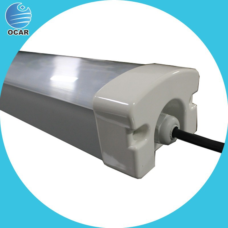 50w Waterproof Led Luminaire CE ROHS approved 95-110lm/w ip65 50W led tri-proof tube
