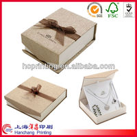 luxury custom logo printed gift velvet paper jewelry box