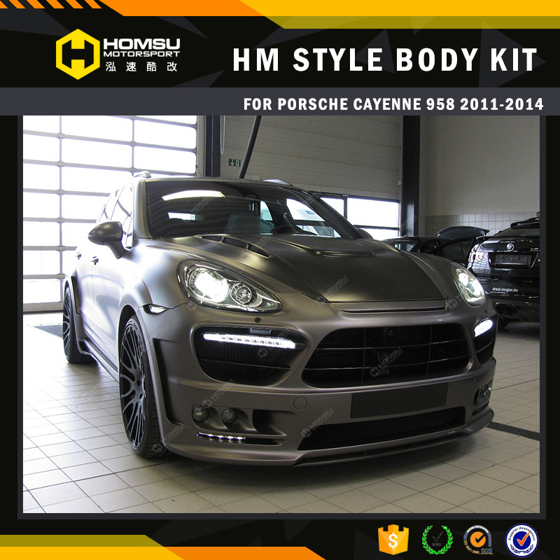 FRP fiber glass 2012 cayenn 958 body kit HM design auto parts EVO style high quality hot sell front bumper with DRL