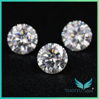 Hot New Product Gems White Synthetic Star Cut Faceted Unpolished Moissanite Gemstones For Sale Wholesale 40% Discount