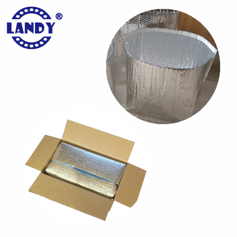 insulated aluminum foil cooler 3d bubble box liner for 24 hours transportantion