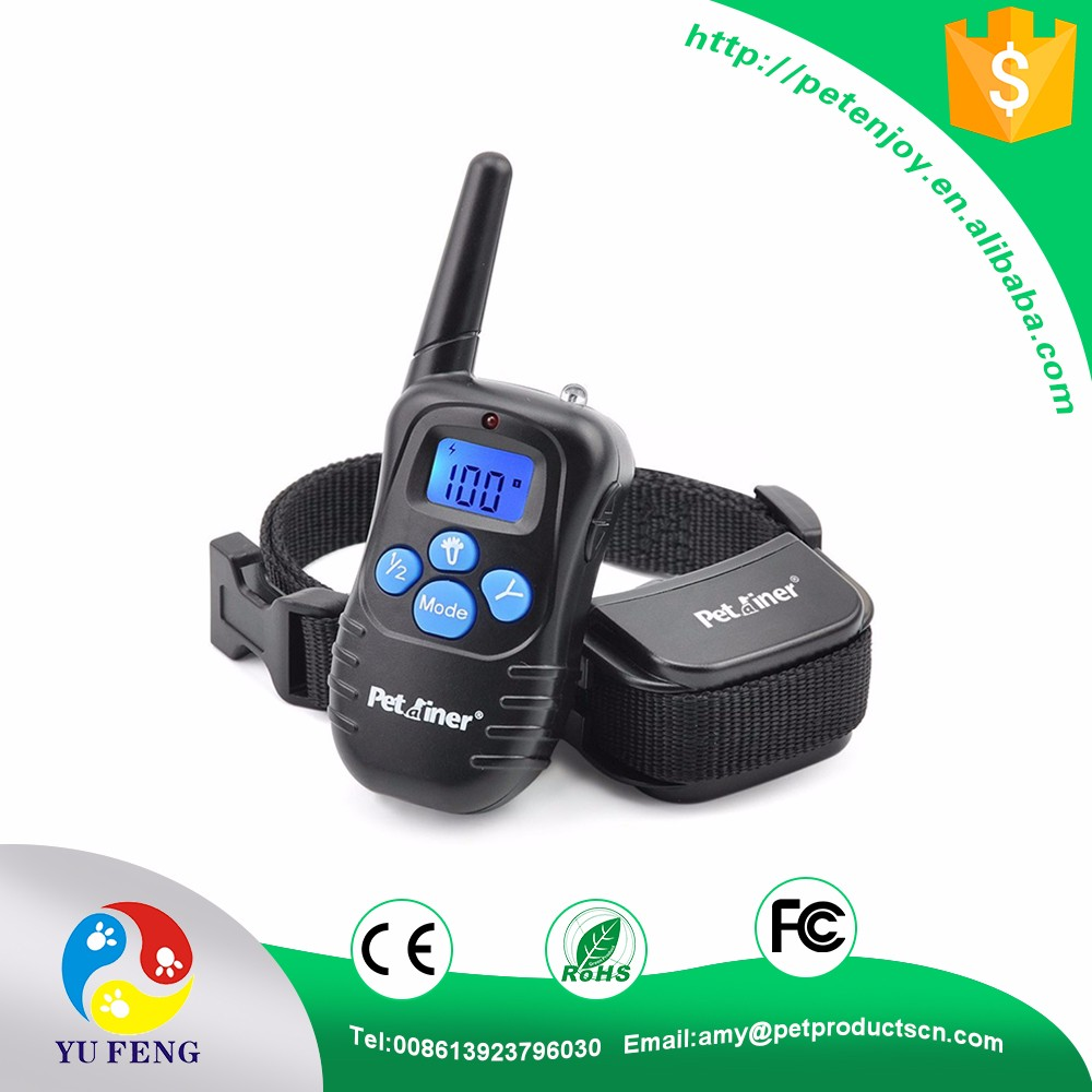 998DR 300M LCD Remote Control Training Waterproof Rechargeable Dog Shock Collar
