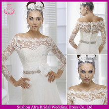 SD1351 off shoulder wedding dresses elegant lace simple long sleeve wedding dress