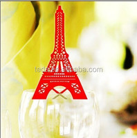 2015Teda PD-075 Colorful Eiffel Table Place Cards table cards Glass Decorations