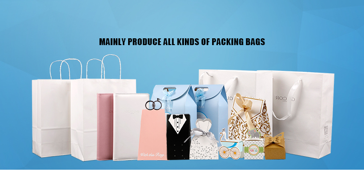 wholesale 2019 new style high quality printed white kraft paper shopping bag with handles