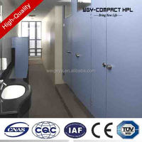 Phenolic Compact Laminate HPL bathroom door Toilet Cubicle Partition board