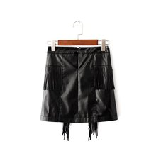 ZH0744A Wholesale cheap fashion design leather ladies short skirts